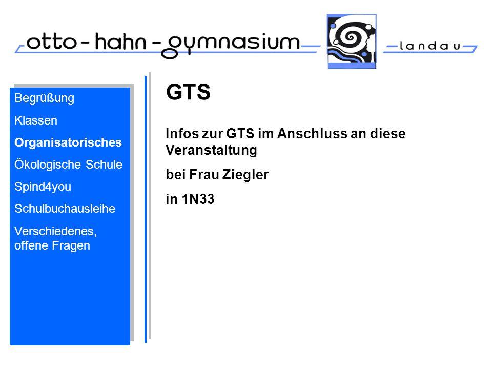 GTS Infos zur GTS im Anschluss an diese Veranstaltung bei Frau Ziegler
