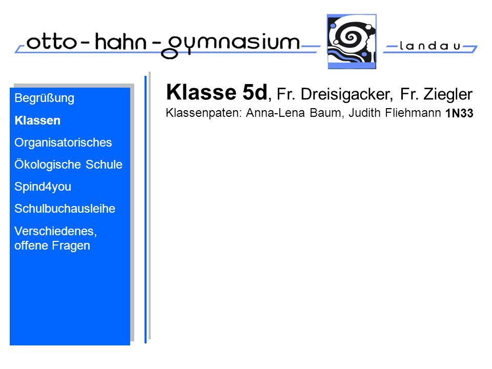 Klasse 5d, Fr. Dreisigacker, Fr