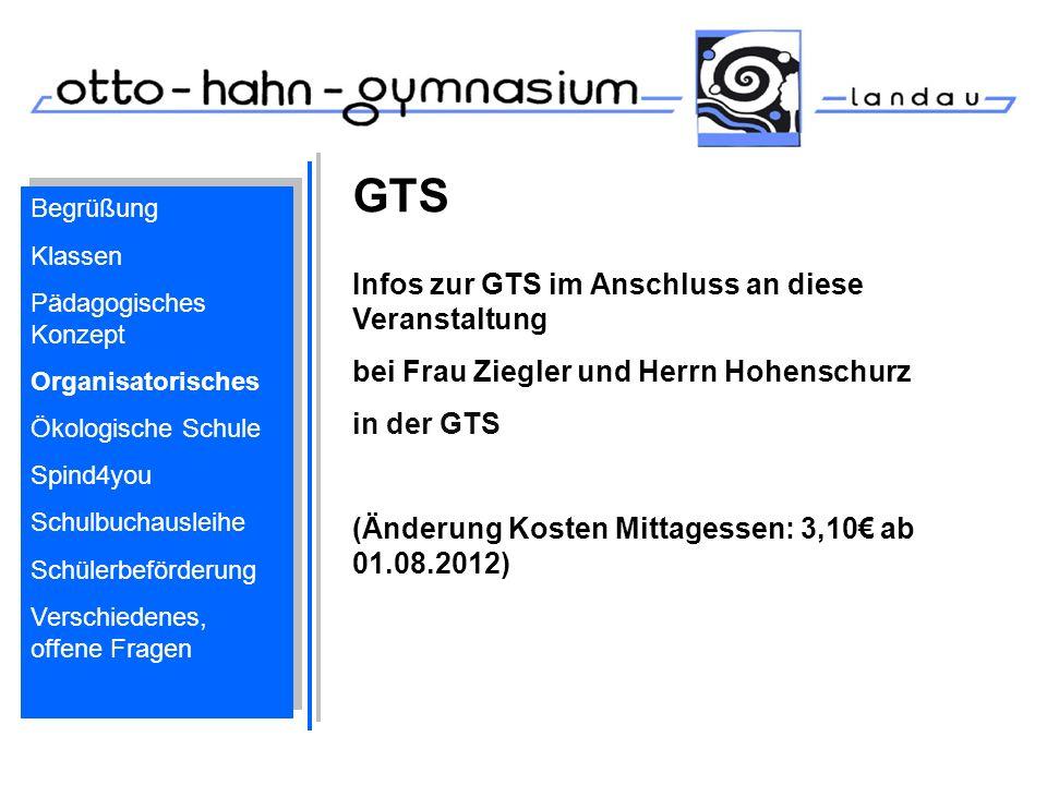 GTS Infos zur GTS im Anschluss an diese Veranstaltung