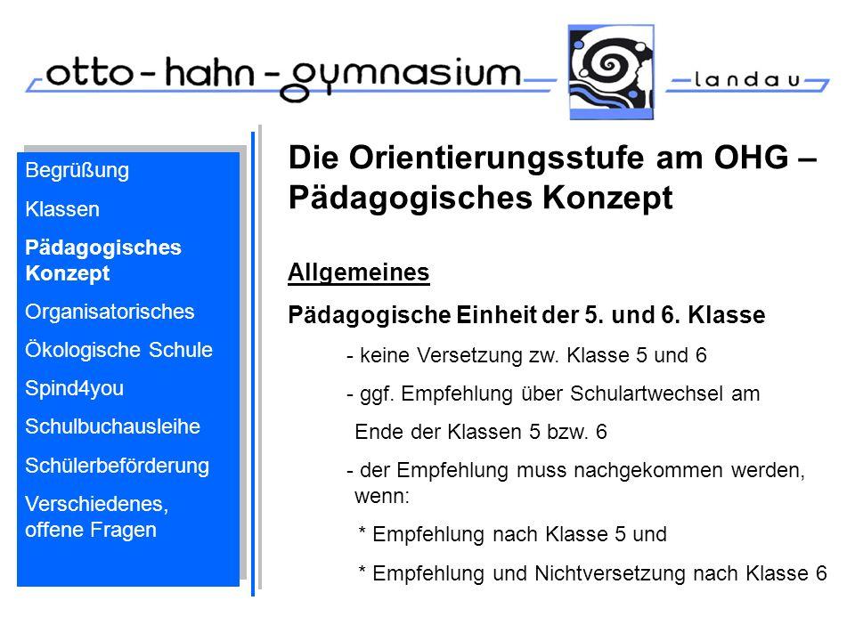 Die Orientierungsstufe am OHG – Pädagogisches Konzept