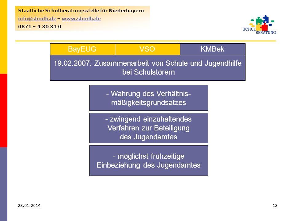 19.02.2007: Zusammenarbeit von Schule und Jugendhilfe bei Schulstörern