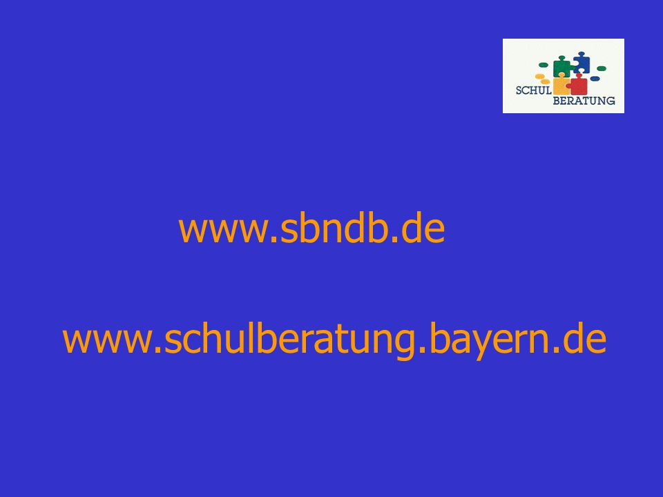 www.sbndb.de www.schulberatung.bayern.de