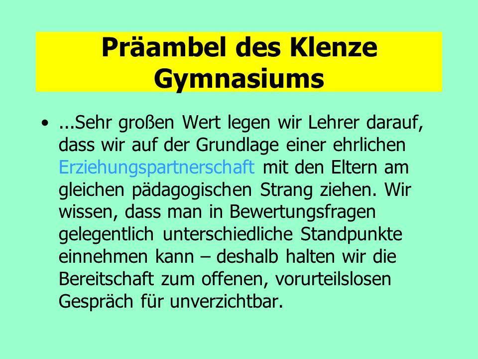 Präambel des Klenze Gymnasiums