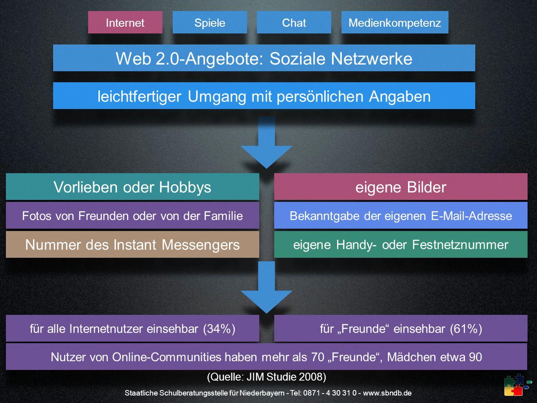 Web 2.0-Angebote: Soziale Netzwerke