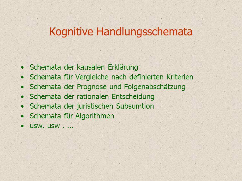Kognitive Handlungsschemata