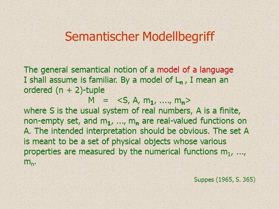 Semantischer Modellbegriff