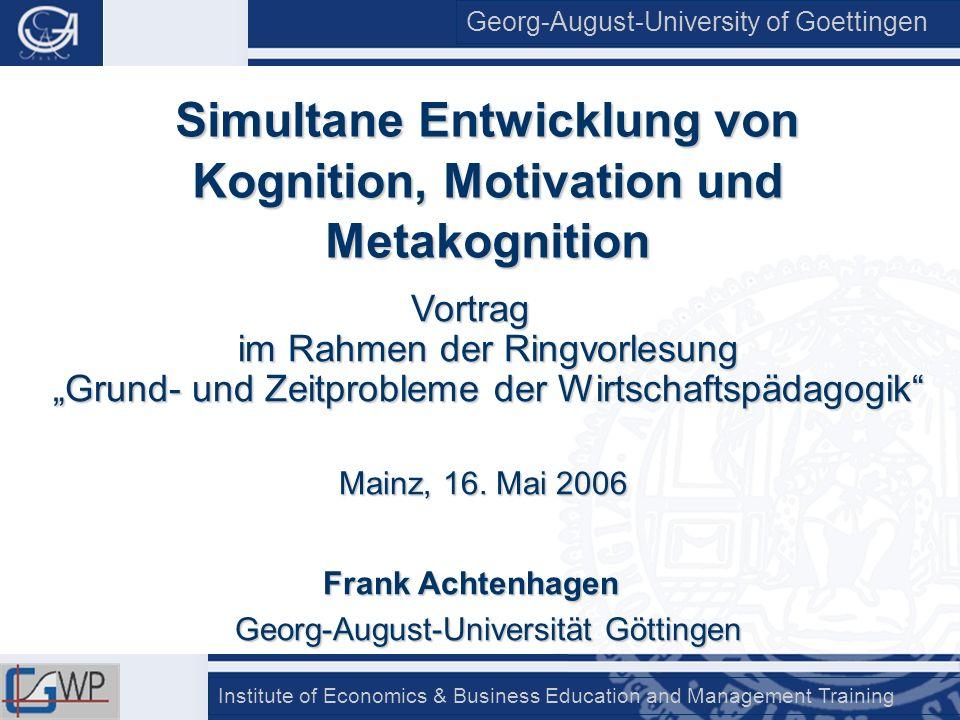 Simultane Entwicklung von Kognition, Motivation und Metakognition
