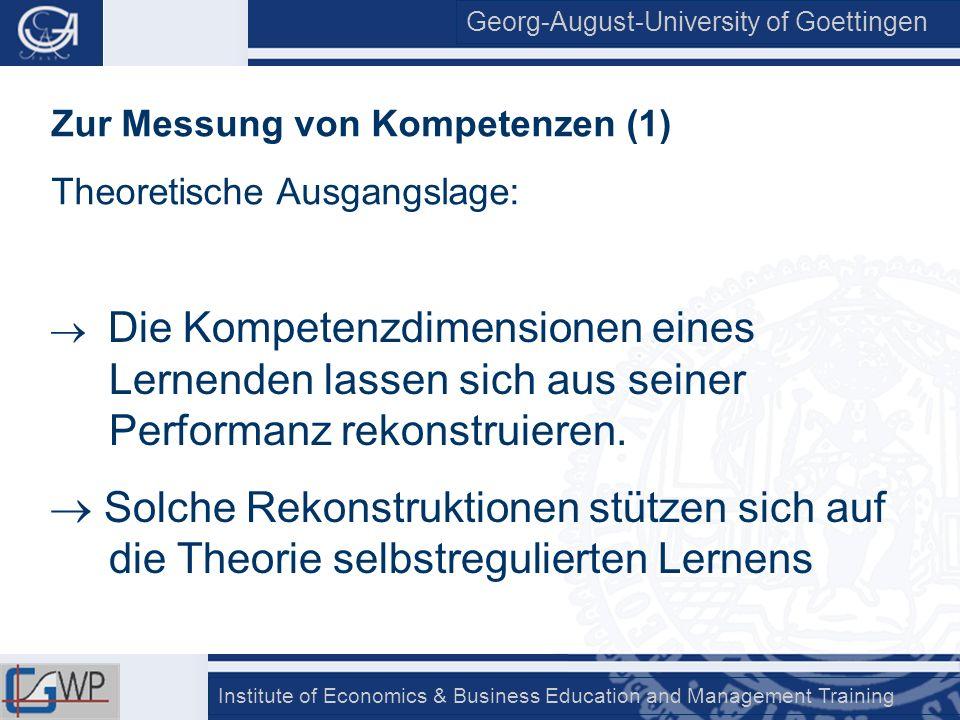 Zur Messung von Kompetenzen (1)