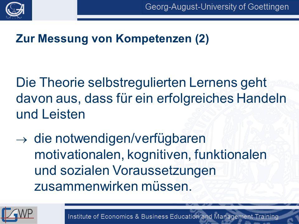 Zur Messung von Kompetenzen (2)
