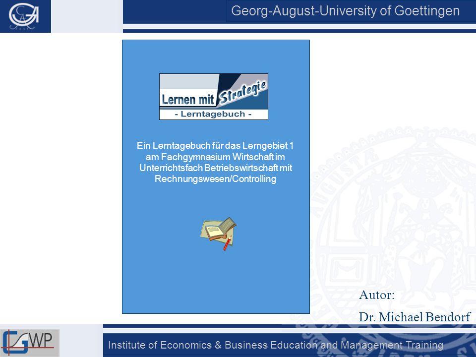 Ein Lerntagebuch für das Lerngebiet 1