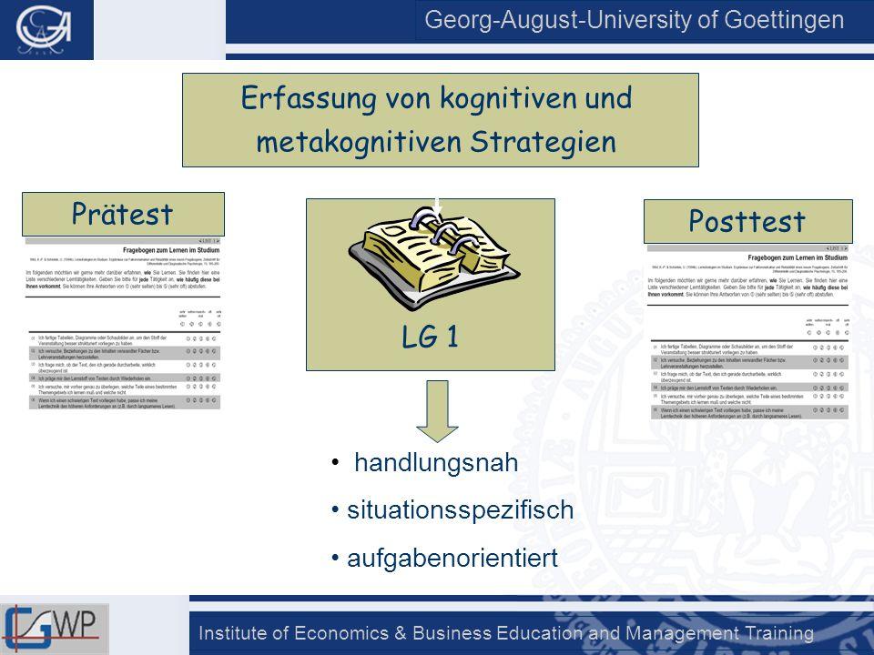 Erfassung von kognitiven und metakognitiven Strategien