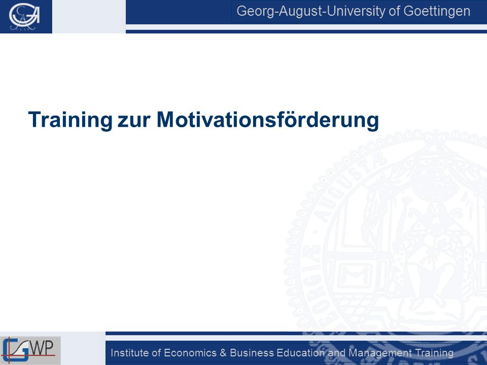 Training zur Motivationsförderung