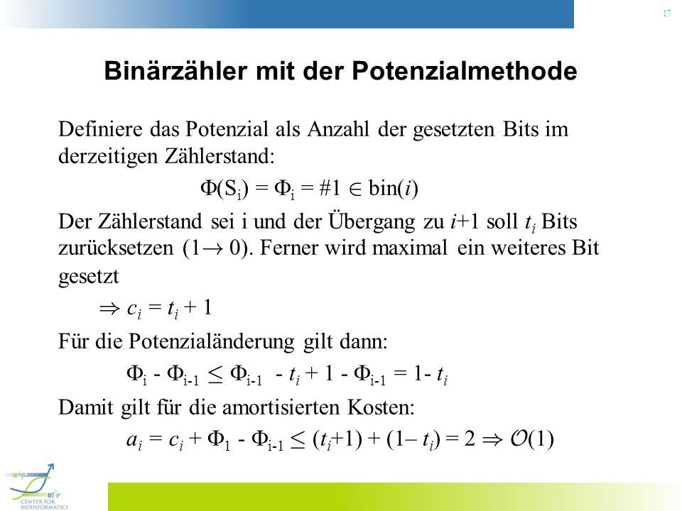 Binärzähler mit der Potenzialmethode