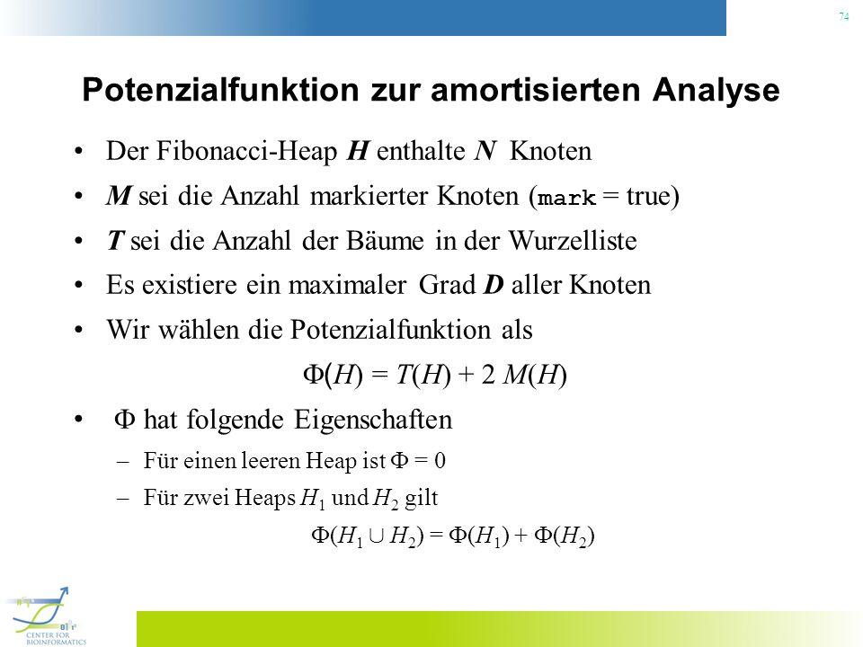 Potenzialfunktion zur amortisierten Analyse
