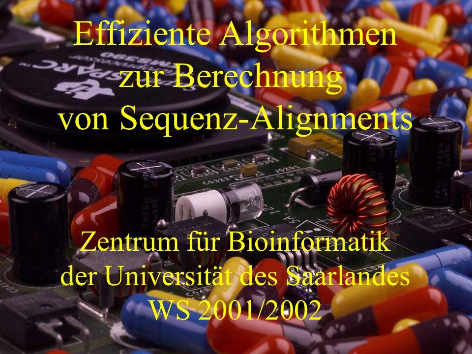 Effiziente Algorithmen zur Berechnung von Sequenz-Alignments
