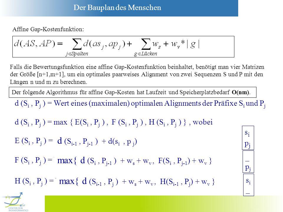max{ d (Si , Pj-1 ) + ws + wv , F(Si , Pj-1) + wv }