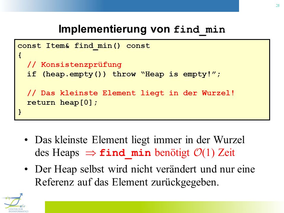 Implementierung von find_min