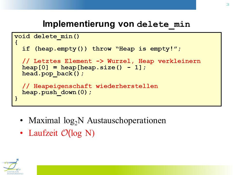 Implementierung von delete_min