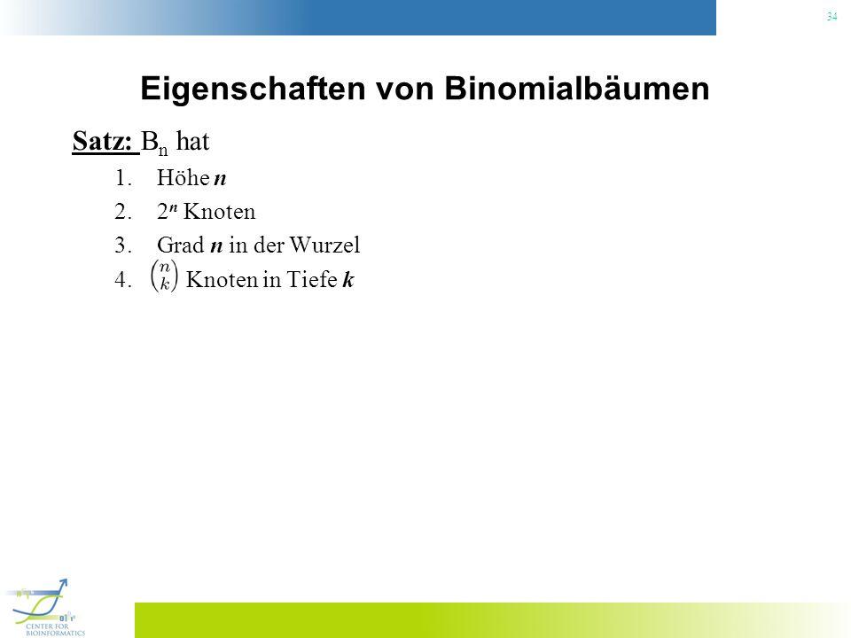 Eigenschaften von Binomialbäumen