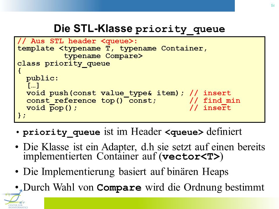 Die STL-Klasse priority_queue