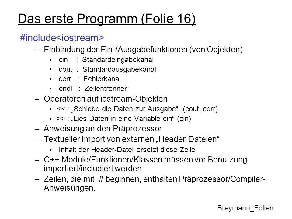 Das erste Programm (Folie 16)