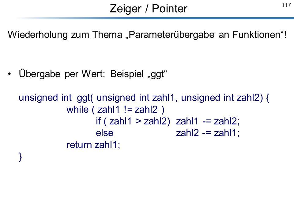 """Wiederholung zum Thema """"Parameterübergabe an Funktionen !"""