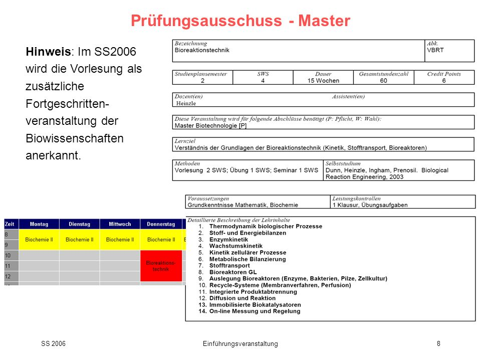 Prüfungsausschuss - Master