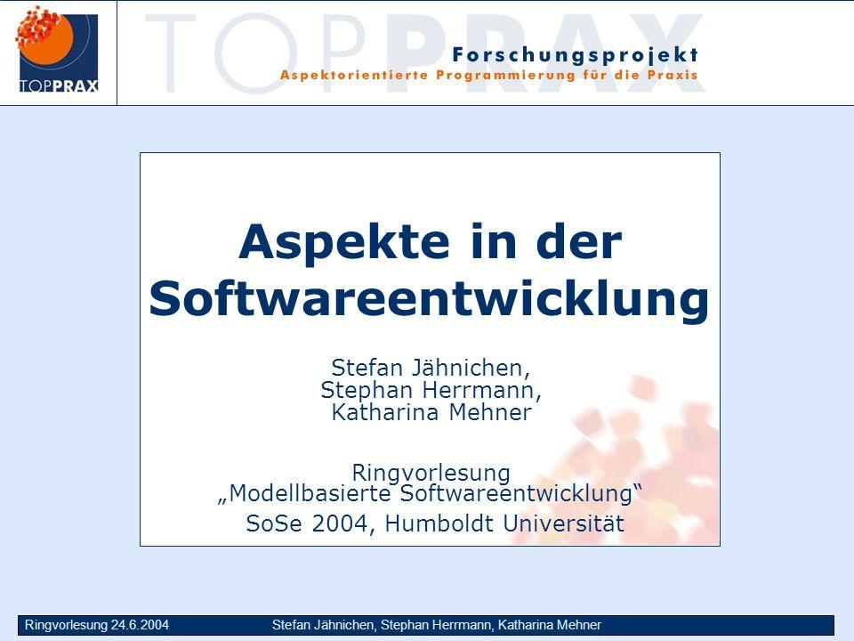 Aspekte in der Softwareentwicklung