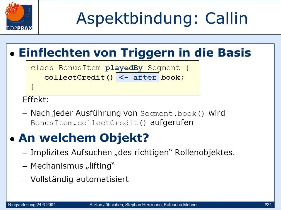 Aspektbindung: Callin
