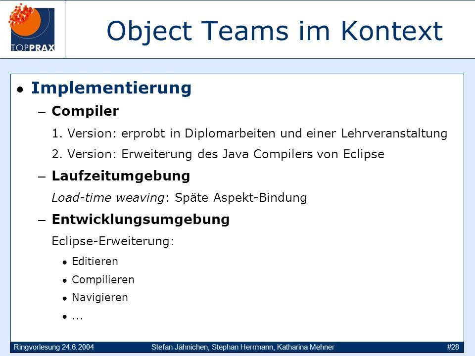 Object Teams im Kontext
