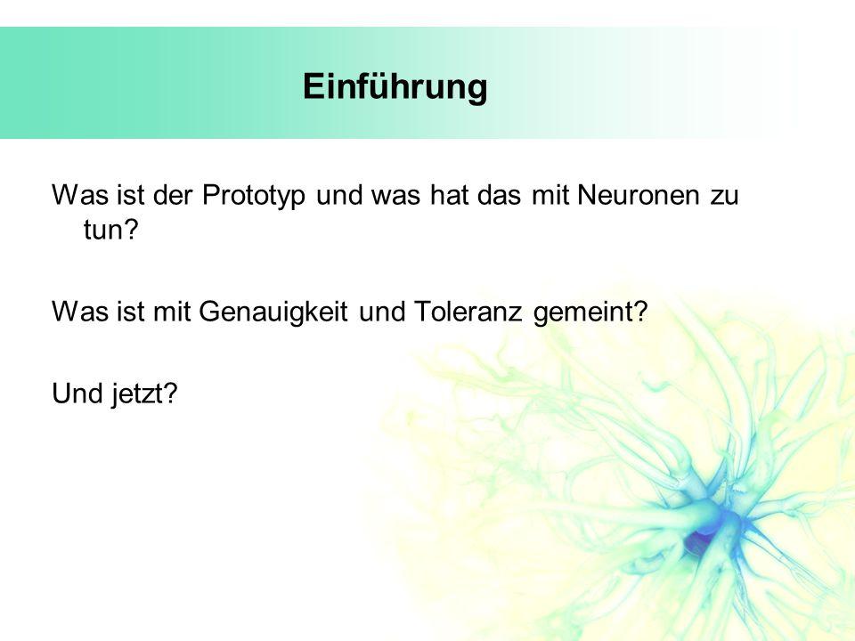 Einführung Was ist der Prototyp und was hat das mit Neuronen zu tun