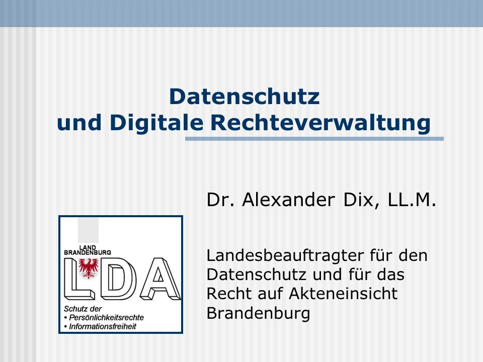 Datenschutz und Digitale Rechteverwaltung