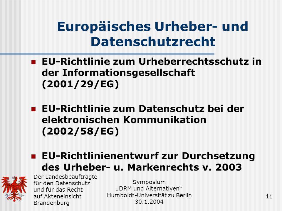 Europäisches Urheber- und Datenschutzrecht