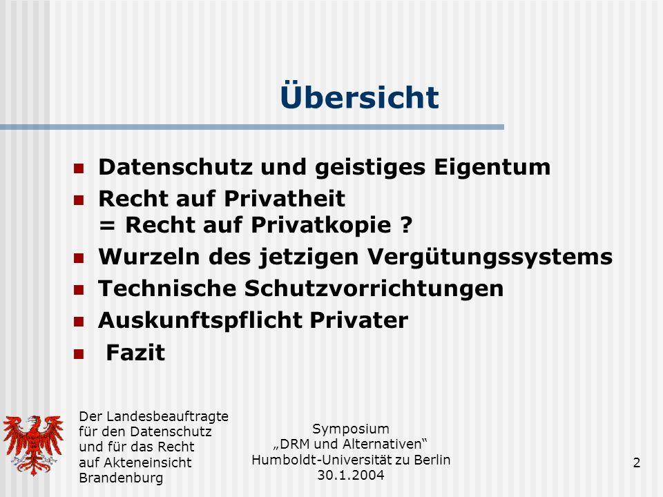 Übersicht Datenschutz und geistiges Eigentum