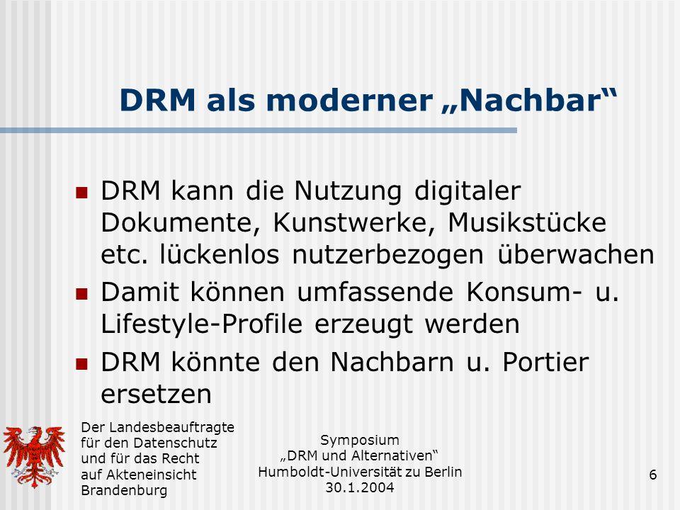 """DRM als moderner """"Nachbar"""