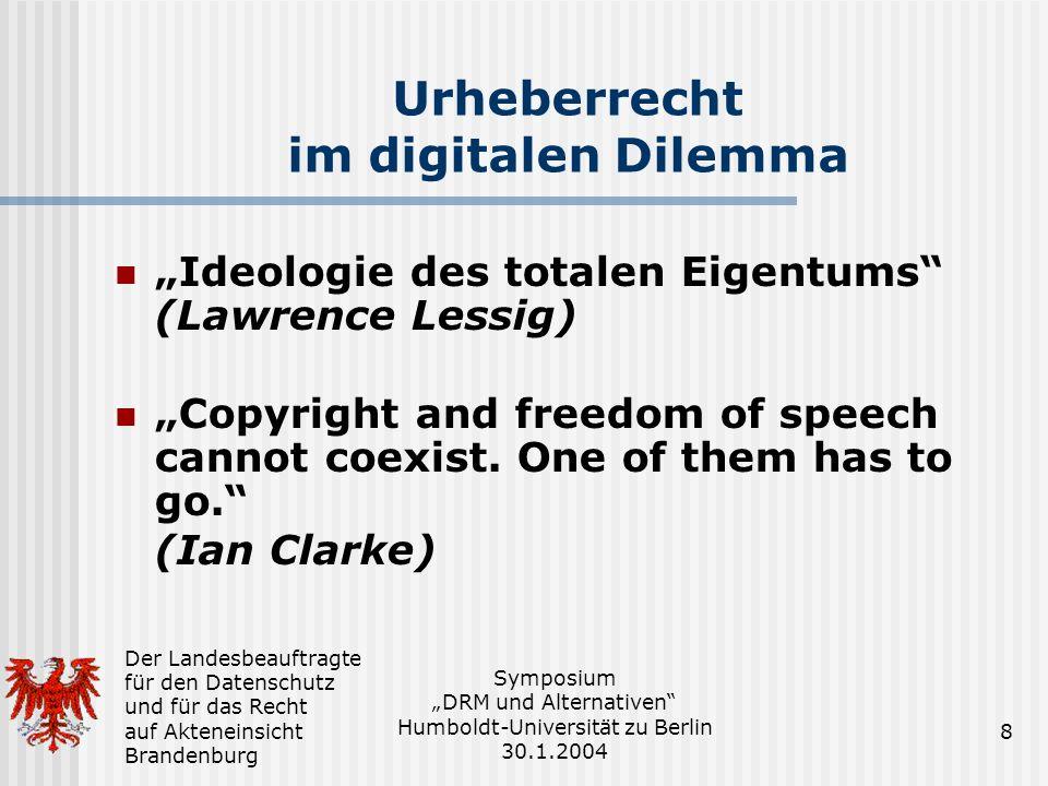Urheberrecht im digitalen Dilemma
