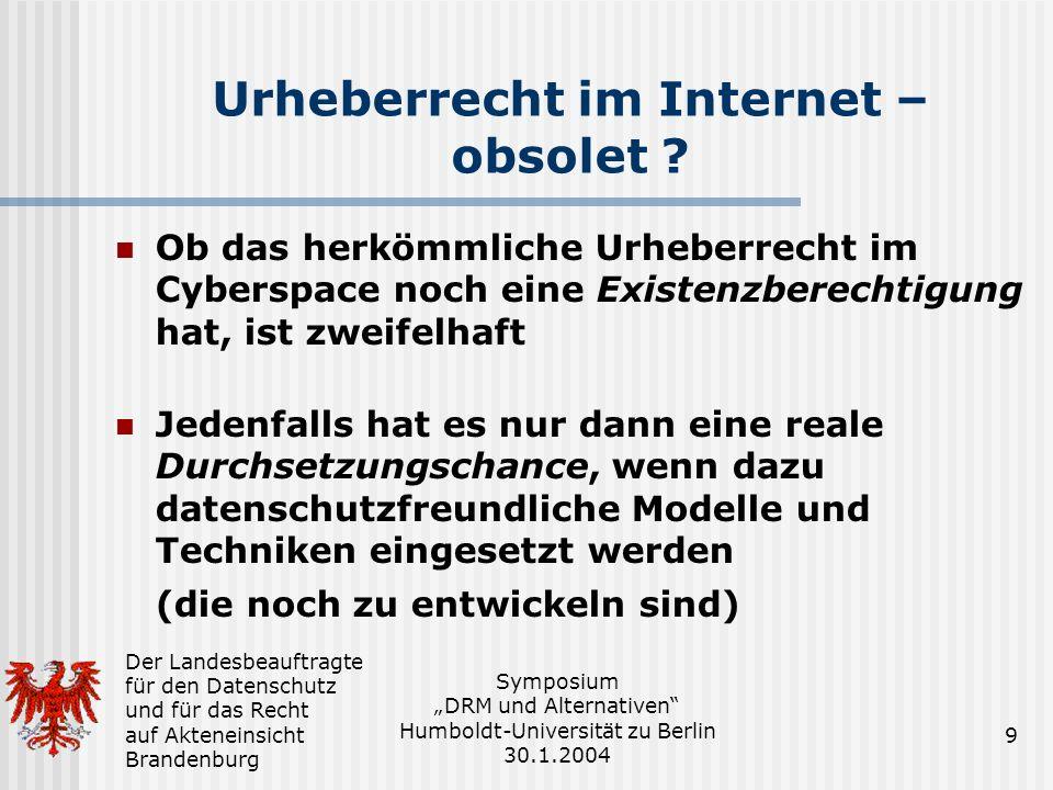 Urheberrecht im Internet – obsolet