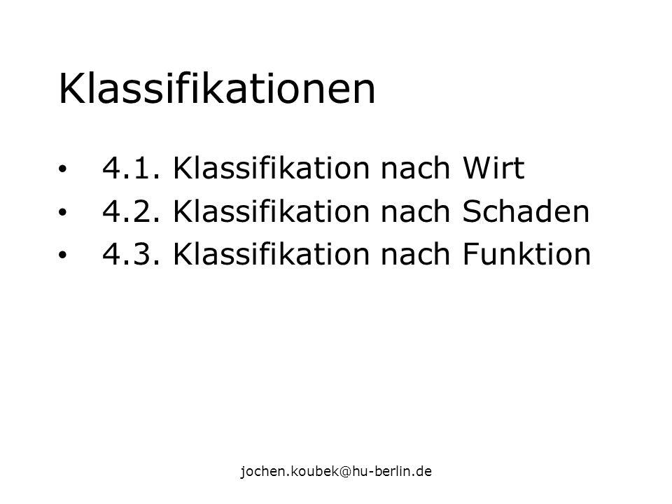 Klassifikationen 4.1. Klassifikation nach Wirt