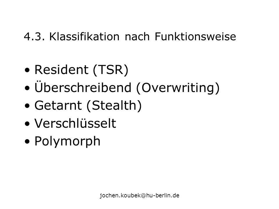 4.3. Klassifikation nach Funktionsweise