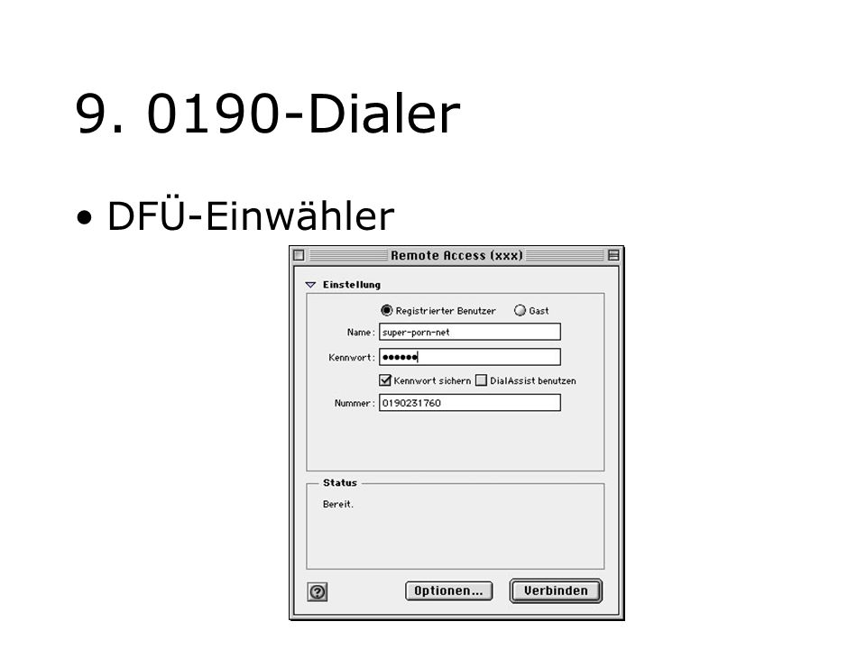 9. 0190-Dialer DFÜ-Einwähler jochen.koubek@hu-berlin.de