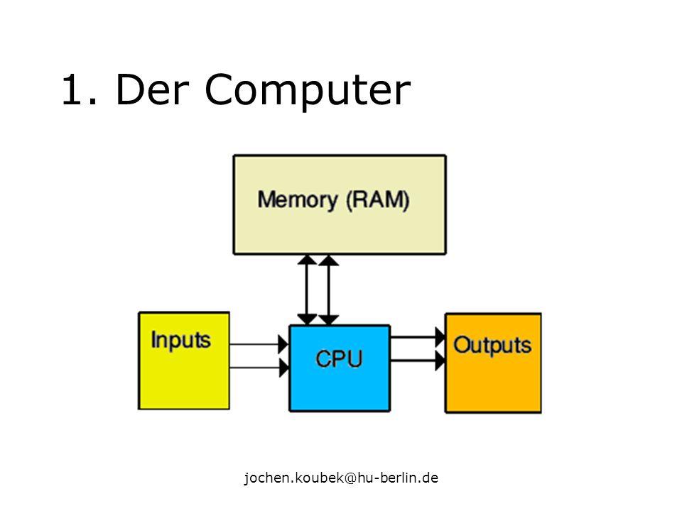 1. Der Computer jochen.koubek@hu-berlin.de