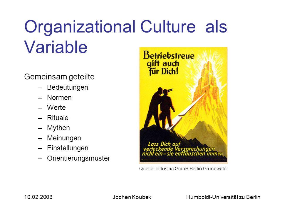 Organizational Culture als Variable