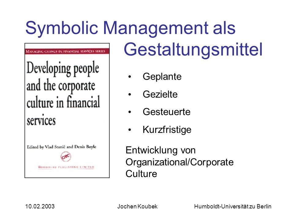 Symbolic Management als Gestaltungsmittel