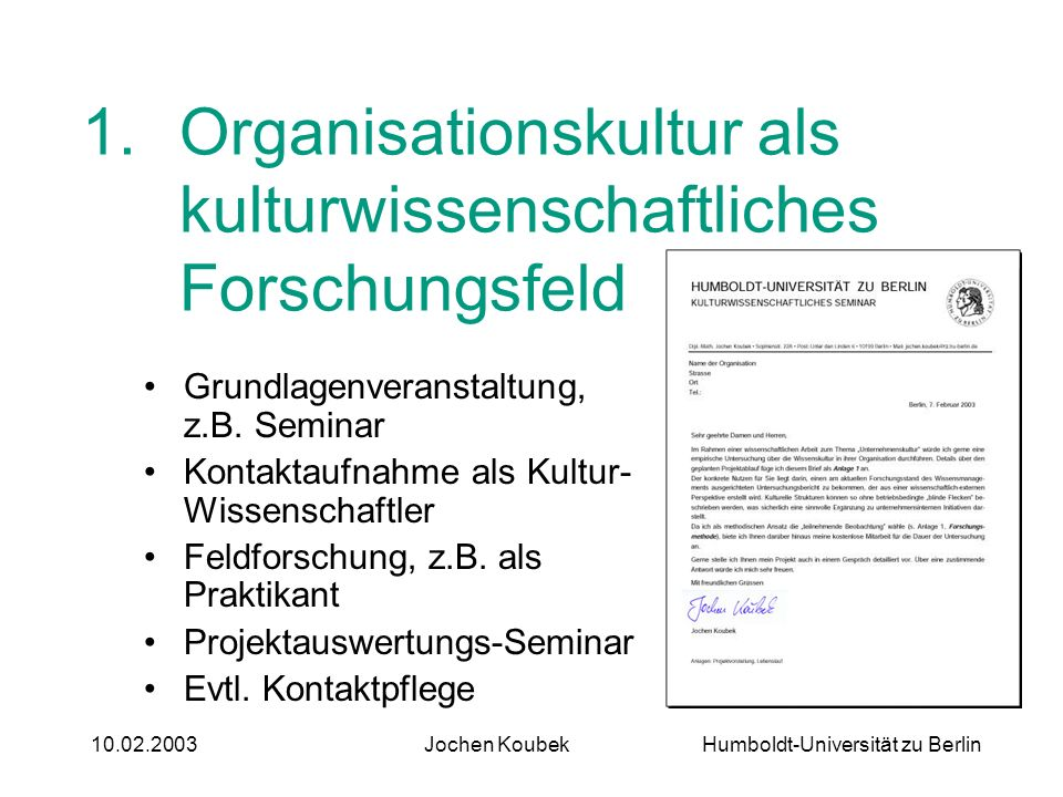 Organisationskultur als kulturwissenschaftliches Forschungsfeld