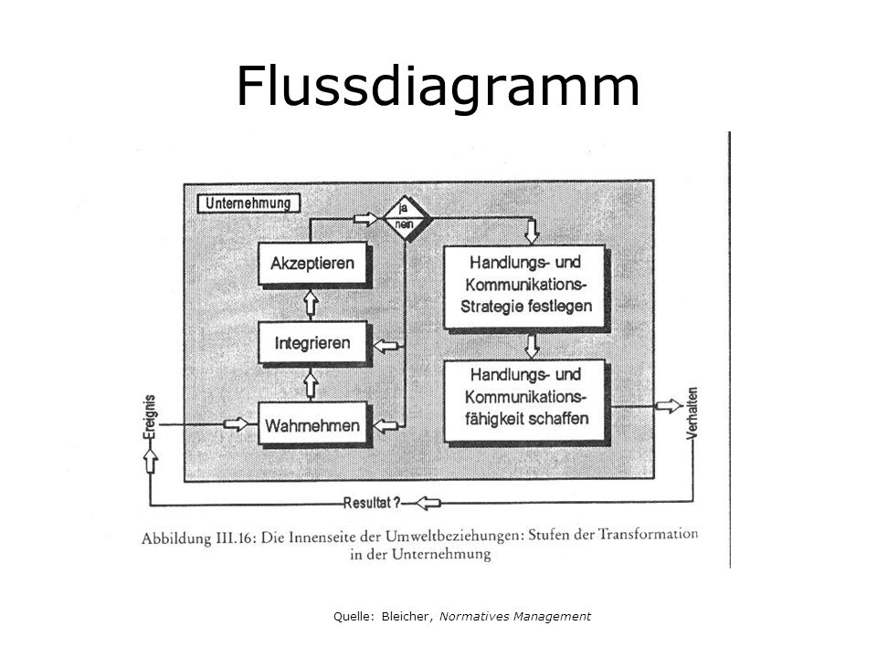 Flussdiagramm Quelle: Bleicher, Normatives Management