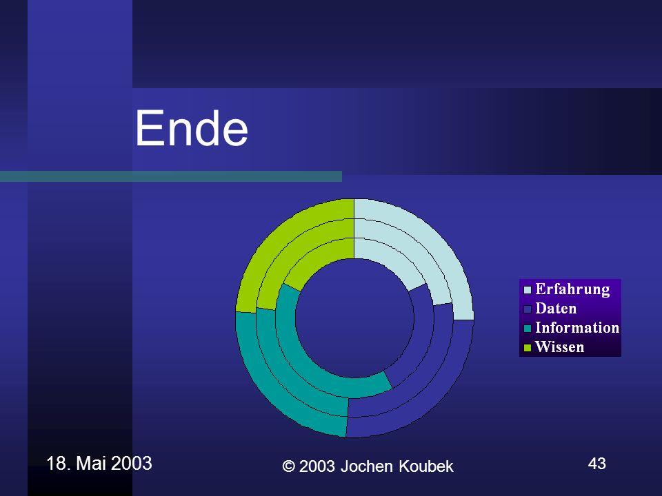 Ende 18. Mai 2003 43 © 2003 Jochen Koubek