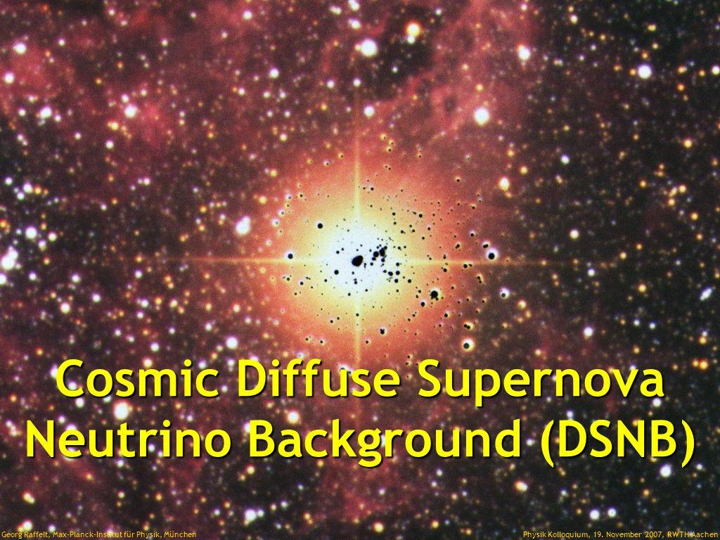 Supernova Neutrinos 20 Jahre nach SN 1987A