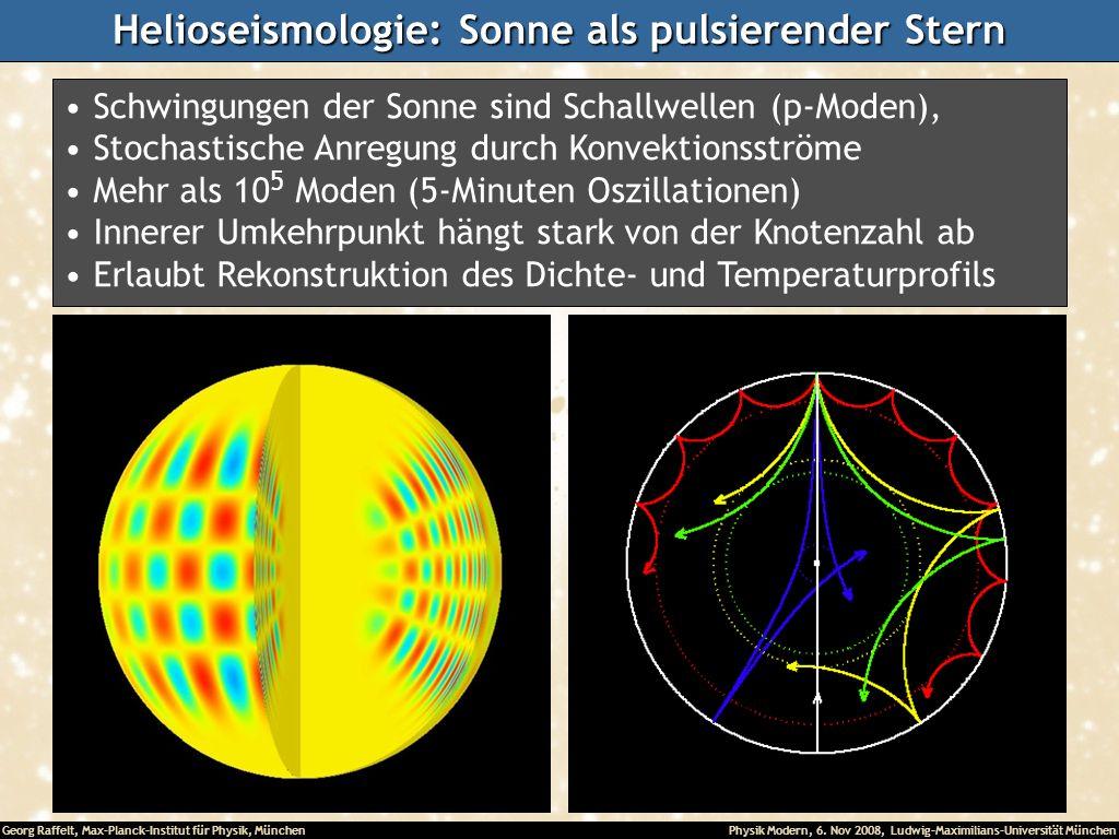Helioseismologie: Sonne als pulsierender Stern
