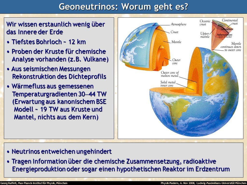 Geoneutrinos: Worum geht es