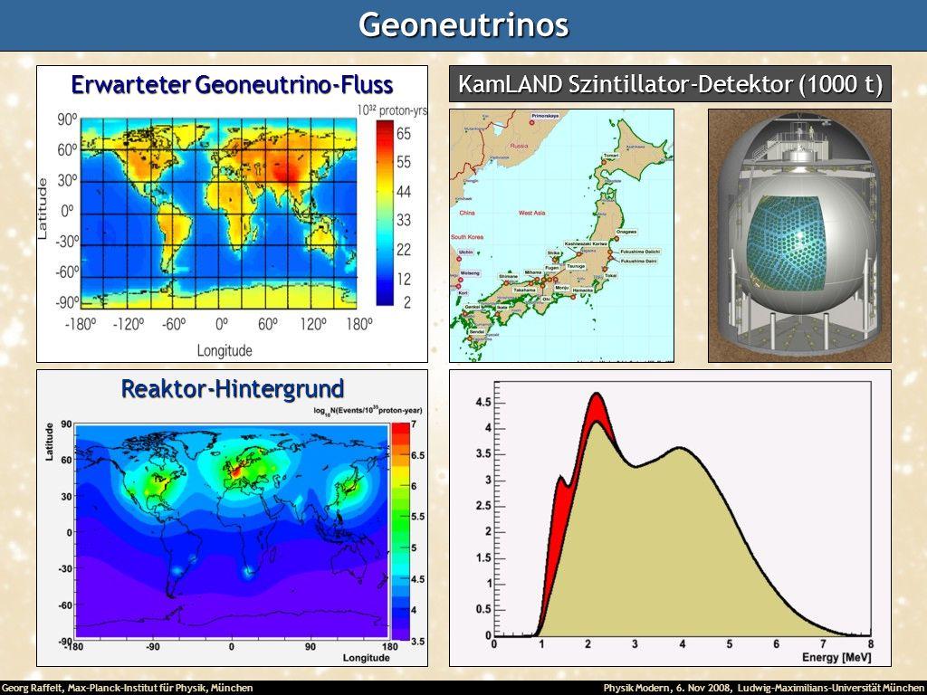 Geoneutrinos Erwarteter Geoneutrino-Fluss